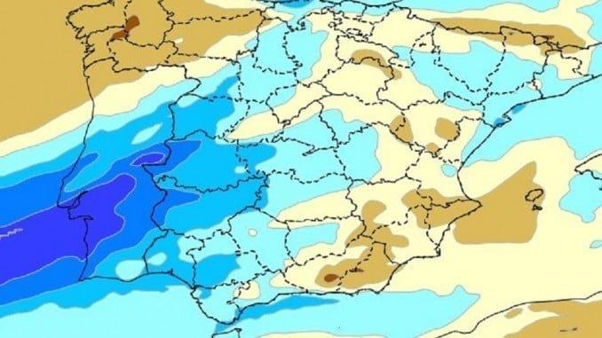 Las lluvias se producirán durante la noche y madrugada en la provincia de Huelva.