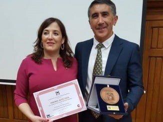 Ana Torres y Manuel Durán, miembro aracenense de la ACTE.