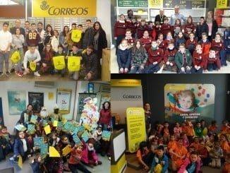 Alumnos que han participado en las actividades de Correos.