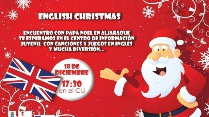 Cartel anunciador del English Christmas 2017