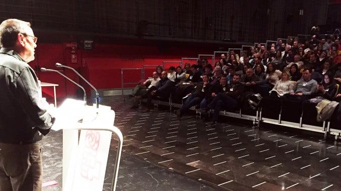 Ignacio Caraballo durante su intervención en le Comité Provincial del PSOE