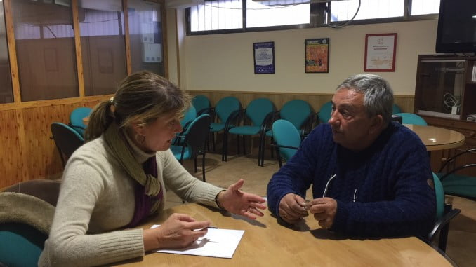 Pilar Miranda se reúne con el presidente de ARO en Huelva, Manuel Darriba