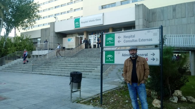Pedro Jiménez (IU) en el Hospital Infanta