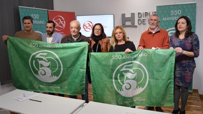 La Diputación de Huelva ha acogido la presentación del logo del 550 Aniversario de San Juan del Puerto