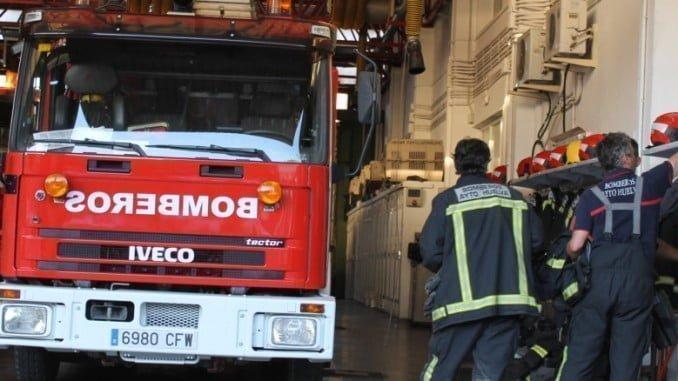 El 112 alertó a los Bomberos de Huelva del incendio en una vivienda de la capital