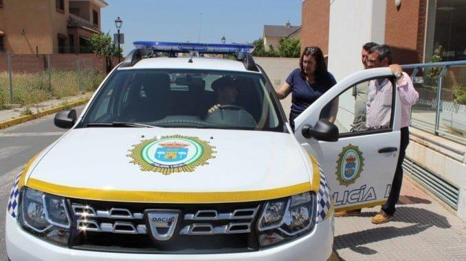 La Policía de Aljaraque patrullaba en un vehículo cuando fue deslumbrada con un puntero láser