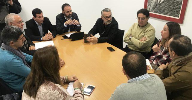 Reunión de Herrera con los vocales de la ejecutiva del PSOE y los Grupos de Desarrollo Rural