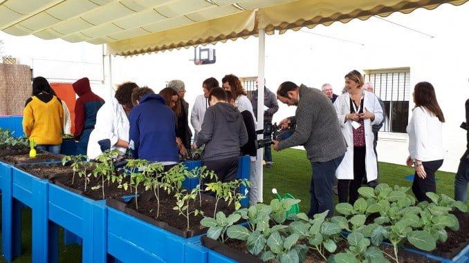 El nuevo espacio lúdico-educativo cuenta con un huerto ecológico
