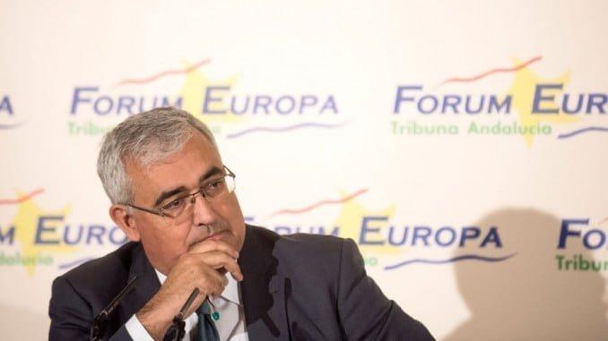 El consejero de Economía y Conocimiento, Antonio Ramírez de Arellano, en su intervención en el Fórum Europa