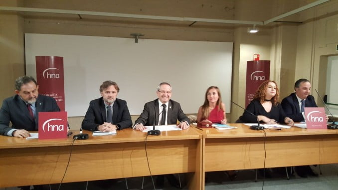 José Fiscal asistió a la toma de posesión de Noemi como nueva presidenta del Colegio de Arquitectos de Andalucía.