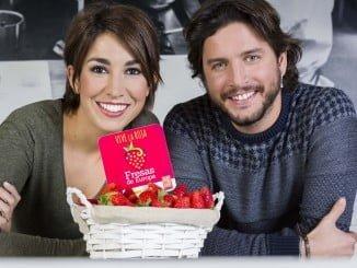 Alma Obregón y Manuel Carrasco, embajadores de Fresas de Europa
