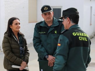 La subdelegada del Gobierno en el cuartel de El Rocío