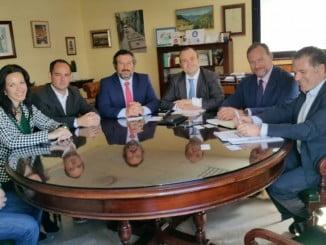 Reunión de  Julio Díaz (C´s), con empresarios en la FOE