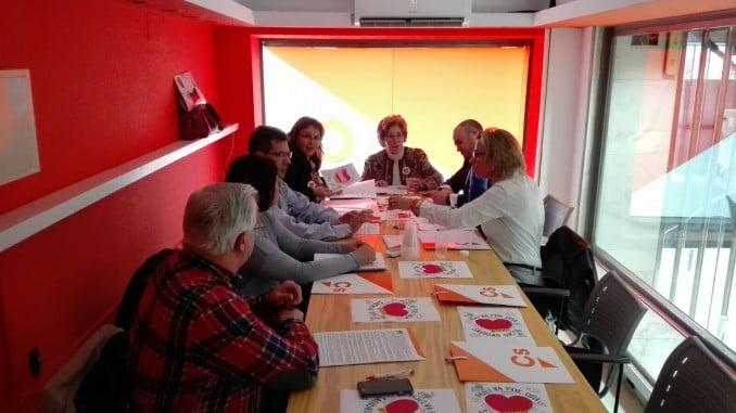 Representantes de Ciudadanos se reunieron con los de la Plataforma Huelva por una sanidad digna