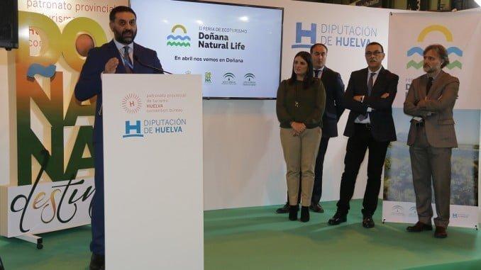 El consejero de Turismo en la presentación de la Feria de Ecoturismo Doñana Natural Life
