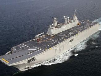 El Buque de la Armada Española, Juan Carlos I, llegará el viernes a Huelva