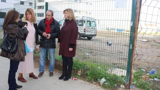Pilar Miranda y Berta Centeno en su visita al Nuevo Molino