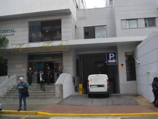 Entrada al recién inaugurado parking del Hospital Costa de la Luz