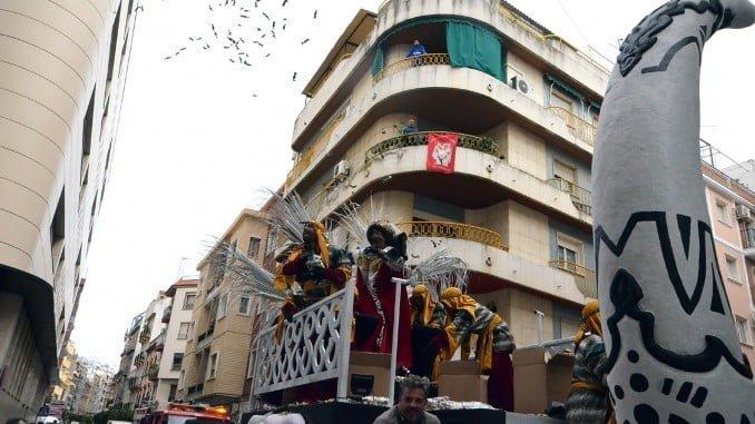 Huelva mantuvo su Cabalgata el 5 de enero, pese a la lluvia