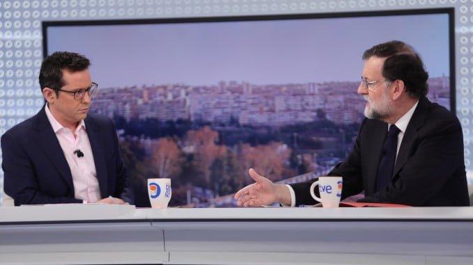 """El presidente del Gobierno, Mariano Rajoy, es entrevistado en el programa """"Los Desayunos"""" de TVE"""