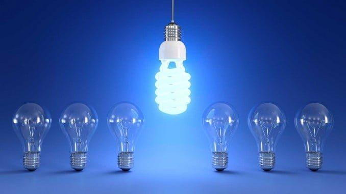Las luces de ahorro de energía pueden ahorrar hasta un 80% de la energía utilizada para encender la casa