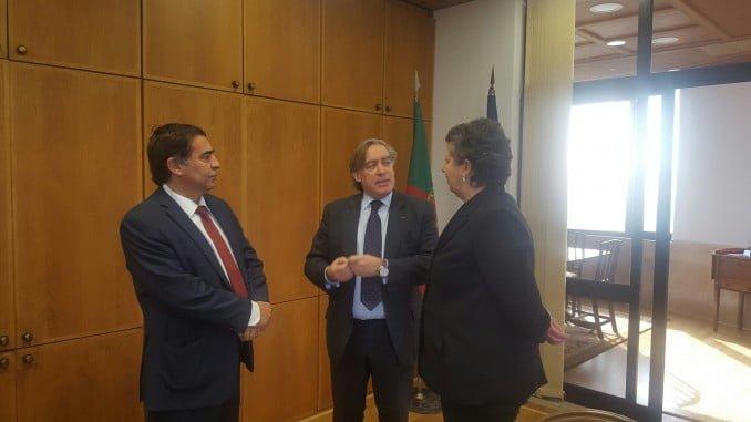 El secretario general de Pesca, Alberto López-Asenjo y su homólogo portugués, José Apolinario