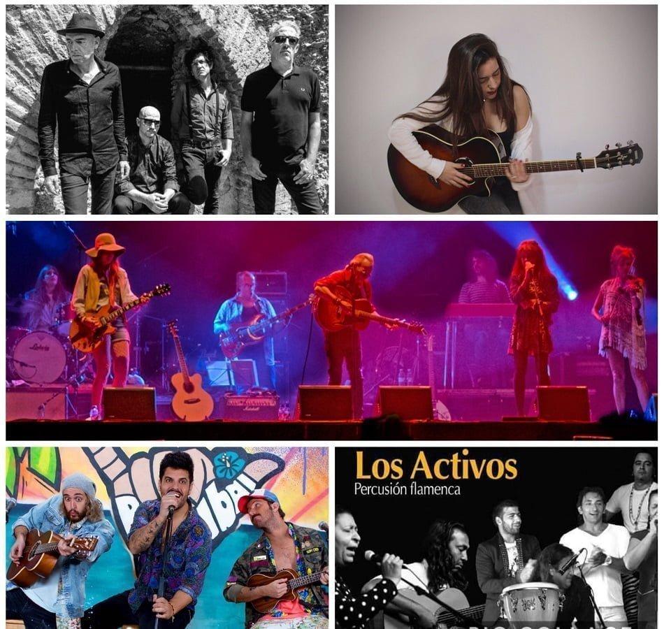 Cartel de la programación musical para las fiestas de San Sebastián