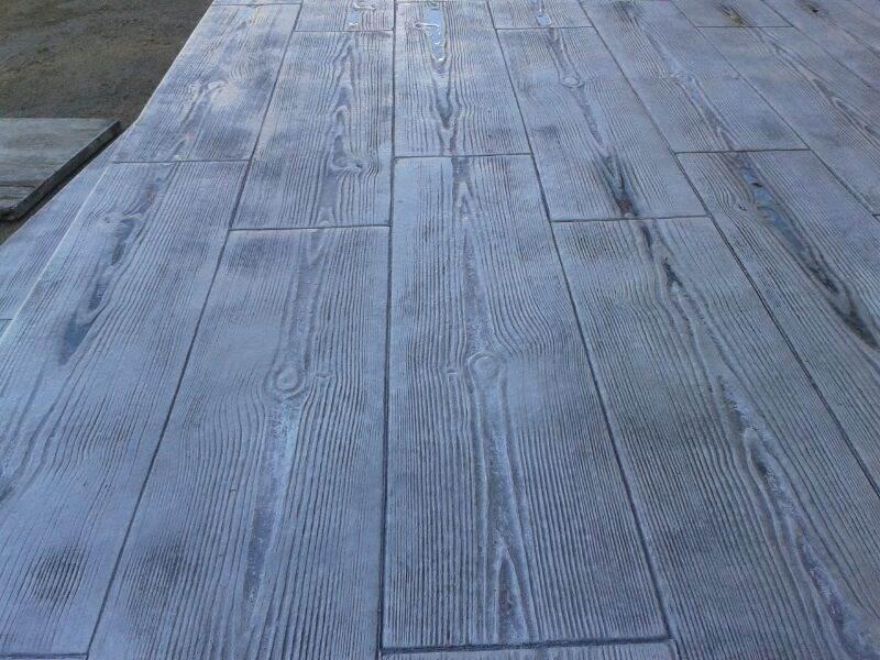 El hormig n impreso cada vez m s presente en obras p blicas y privadas huelva red - Hormigon impreso madera ...