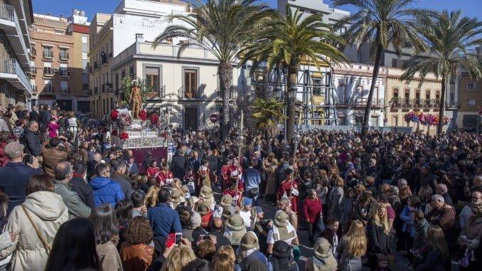 El Patrón San Sebastián precesionará por las calles de Huelva este domingo