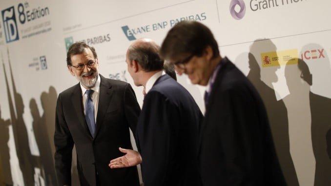 El presidente del Gobierno, Mariano Rajoy, durante el acto de inauguración del foro Spain Investors Day