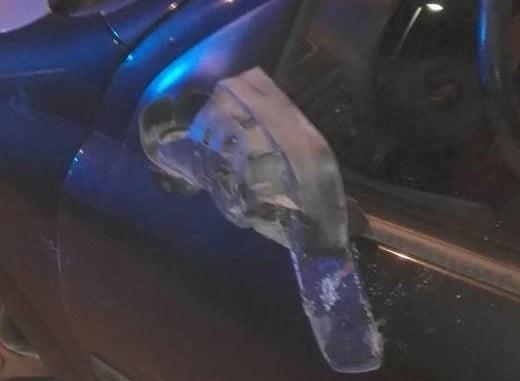 Imagen de uno de los vehículos tras el accidente provocado por una mujer que condudía ebria
