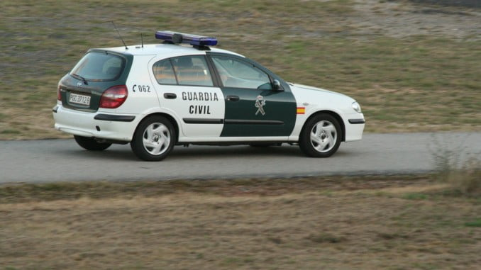 La Guardia Civil localizó al presunto ladrón cuando se disponía a cruzar la frontera