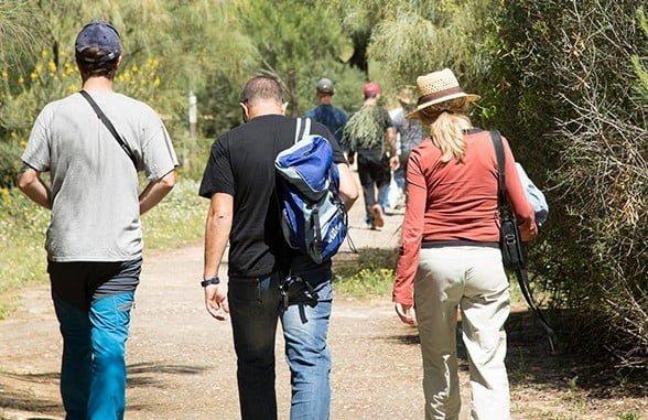 Visitantes en la Laguna Primera de Palos