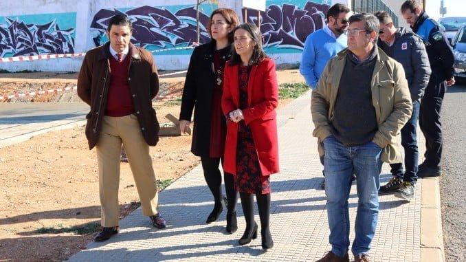 Grávalos y Yolanda Rubio, visitan la zona donde van a llevarse a cabo las obras del PROFEA