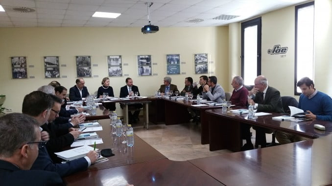El comité ejecutivo de la FOE celebraba hoy su reunión mensual