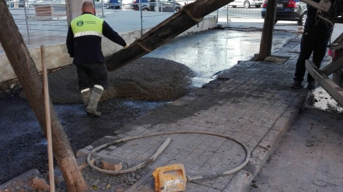 Obras en calle Encinasola