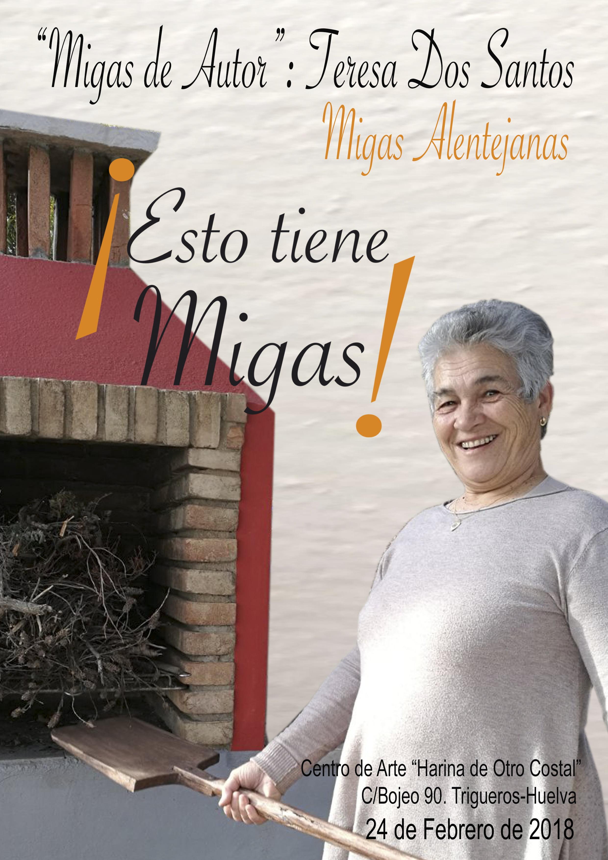 Cartel anunciador de las Migas Alentejanas