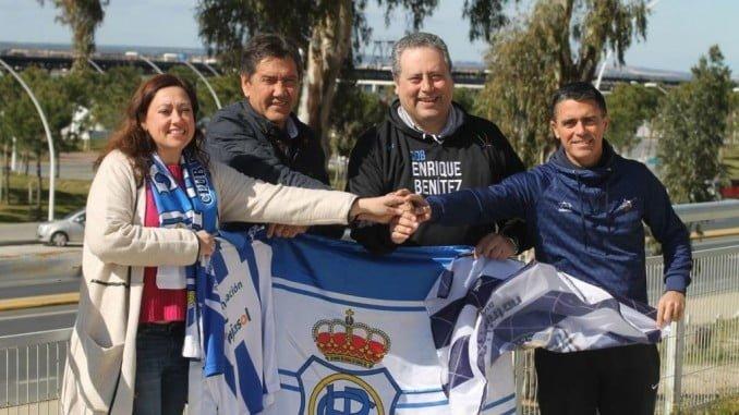 El deporte de Huelva se alía con el CDB Enrique Benítez de cara al partido de este sábado