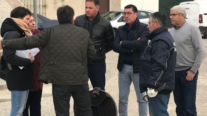 La presidenta de MAS, el director de Giahsa y el alcalde de Paterna visitan las obras de saneamiento