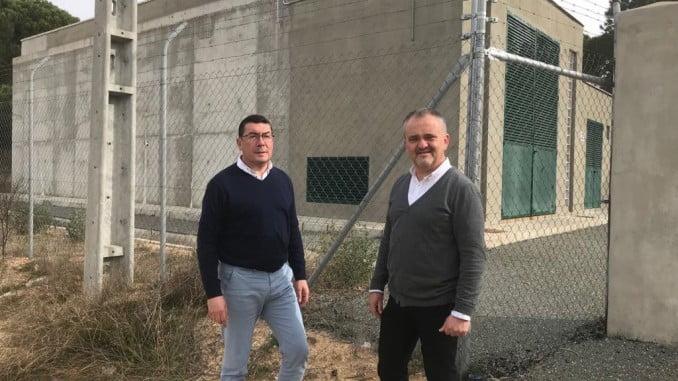 El director de Giahsa y el alcalde de Beas visitan las instalaciones del nuevo depósito
