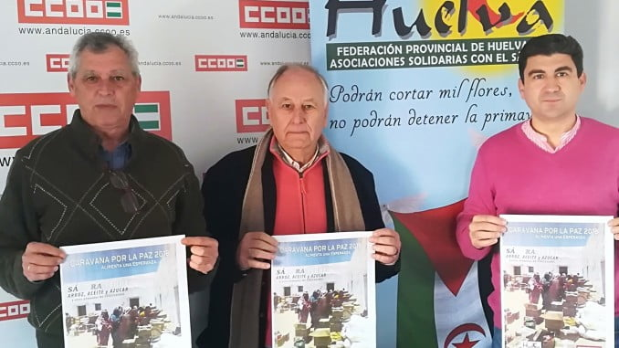 Representantes de CC OO presentan la campaña de recogida de alimentos en febrero