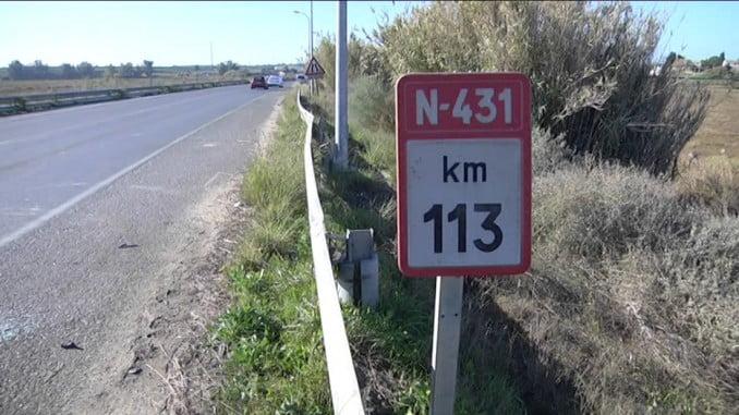 El PSOE señala que en la N-431 ha habido varios siniestros en menos de dos meses