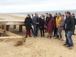 Los socialistas han reclamado desde El Portil un plan estratégico para el litoral
