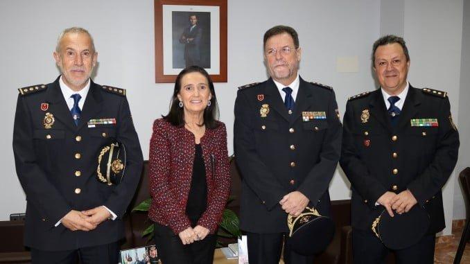 Grávalos recibe al nuevo jefe superior de la Policía Nacional de Andalucía Occidental, José Antonio Pérez