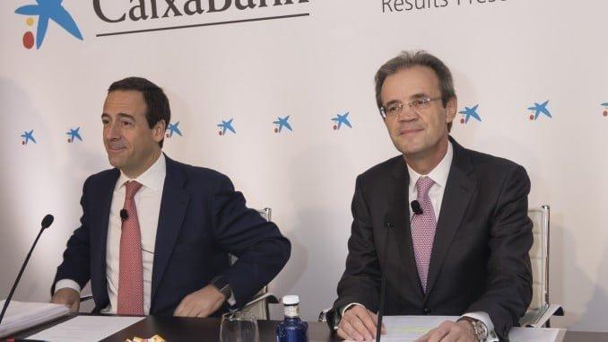 Gonzalo Gortázar, consejero delegado de CaixaBank, y Jordi Gual, presidente de CaixaBank