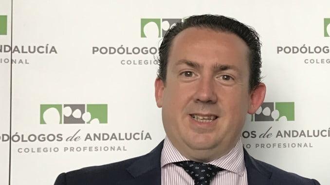 Antonio Guerrero, secretario general del Colegio Profesional de Podólogos de Andalucía