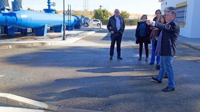 José Antonio Cortés ha conocido las instalaciones de la Comunidad de Regantes El Fresno
