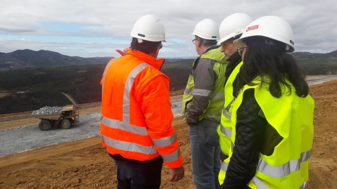 Visita de técnicos de Emergencias 112 a las instalaciones de Atalaya Mining en Minas de Riotinto