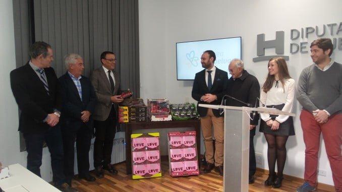 Los presidentes de la Diputación y de Freshuelva informan de la presencia de Huelva en Fruit Logística