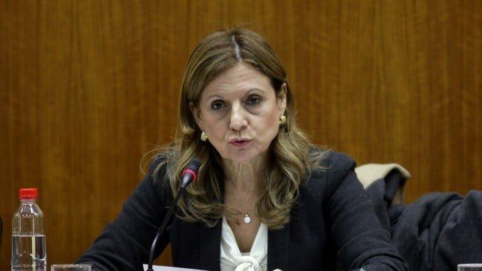Marina Álvarez en la Comisión de Salud del Parlamento andaluz